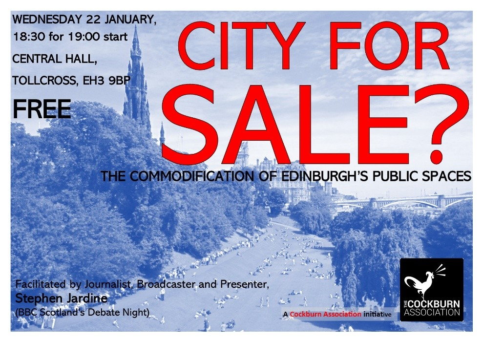 FESTSPACE researchers contribute to public meeting on the commodification of Edinburgh's public spaces